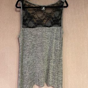 Tops - Sweater tank top with lace back